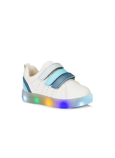 Vicco Vicco Patik Işıklı Ayakkabı Kız Çocuk Pudra Beyaz